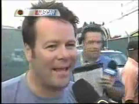 Robby Gordon calls Michael Waltrip a piece of shit.