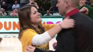 Siena Fan Hits Halfcourt Shot Then Gets Proposed To