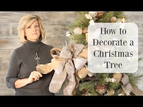 How to Decorate a Christmas tree with Gorgeous Ribbon!