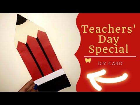 Teachers' Day Special | Rêves et Art | DIY cards | 5th sept | easy 5 mins card❤️