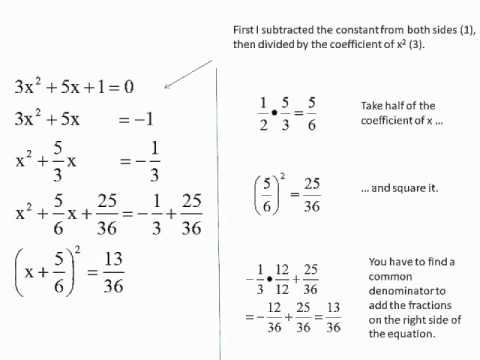 Algebra Man - Complete the Square