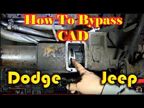 Dodge Jeep Center Axle Disconnect Bypass How To