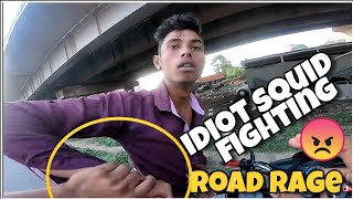 Idiot Squid fighting with me | Road Rage 😡