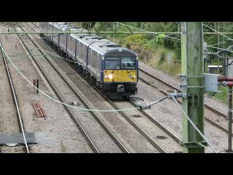 Train leaving Witham Station towards Colchester