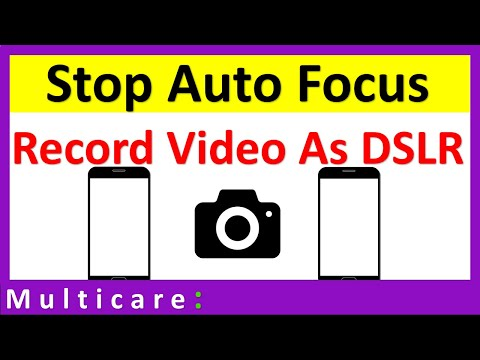 How to disable camera auto focus for video recording