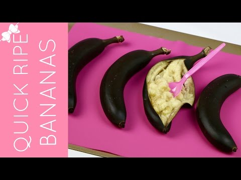 How To Quickly Ripen Bananas in the Oven // Lindsay Ann Bakes