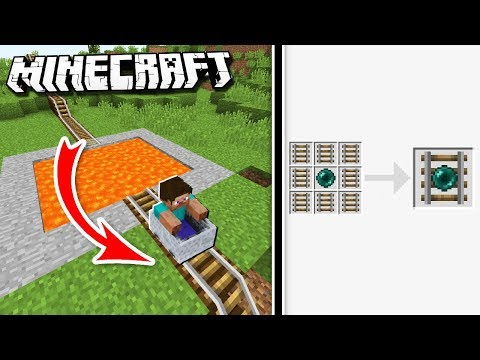 Easy TELEPORTING MINECART Rollercoaster in Minecraft!