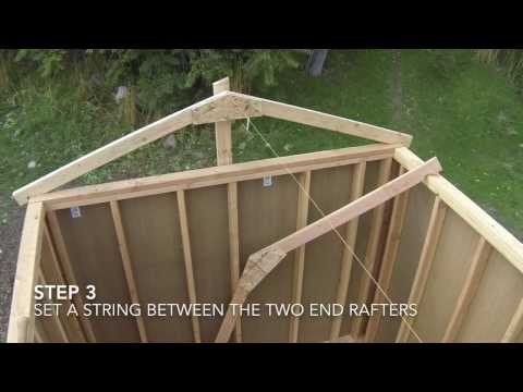 How To Build A Shed - Part 7 - Shed Roof Framing