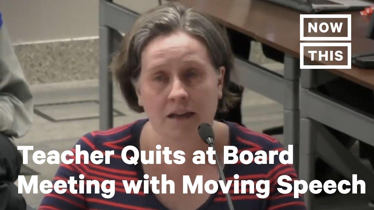 Teacher Resigns During Kansas School Board Meeting With Powerful Speech | NowThis