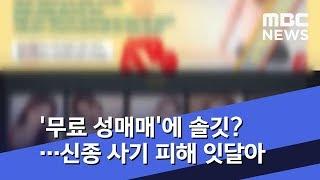 '무료 성매매'에 솔깃?…신종 사기 피해 잇달아 (2019.07.15/뉴스투데이/MBC)