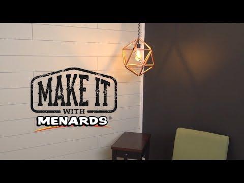 Geometric Copper Pendant Light Fixture - Make It With Menards