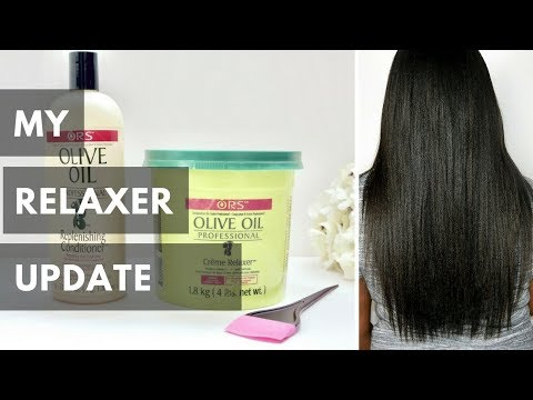 MY QUICK RELAXER UPDATE  | RELAXED HAIR