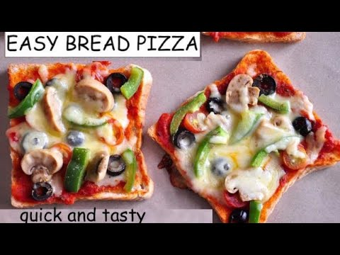 Easy Bread Pizza| Easy Cheesy Pizza | Recipesaresimple