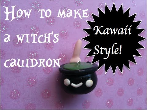 How to make a witch's cauldron (Kawaii Style)