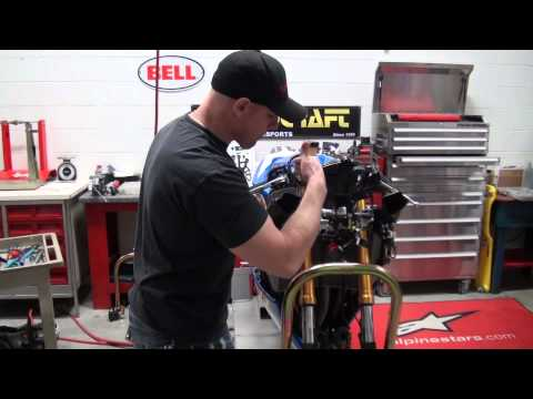 How To Remove Front Forks on a Motorcycle from SportbikeTrackGear.com