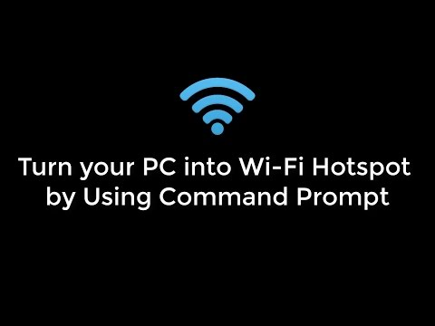 Turn your PC into Wi Fi Hotspot by Using CMD