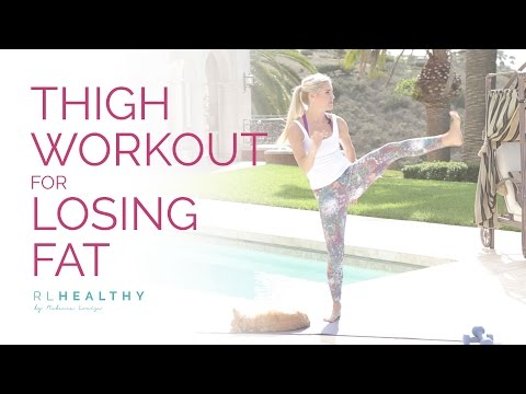 Thigh Workout For Losing Fat | Rebecca Louise