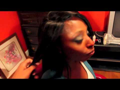 Invisible Hairline Sew in w/ sewn on Lace Closure No Glue