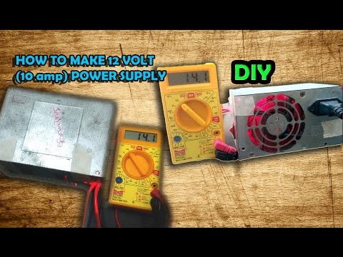 How to make 12v DC power supply by Computer SMPS