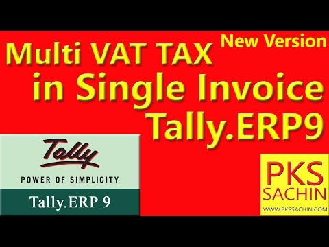 Multiple Vat Rates in Single Invoice in Tally ERP 9 / Single Invoice मे Multipul टैक्स कैसे लगेगे
