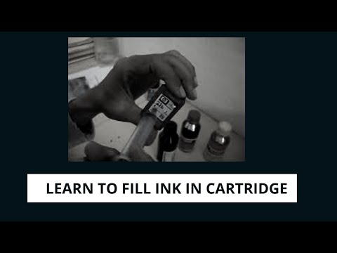 How to Fill Ink in HP Cartridge