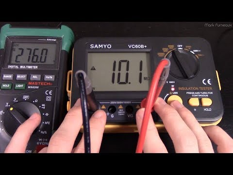 Teardown and Review of the VC60B+ Insulation Tester/Megohmmeter