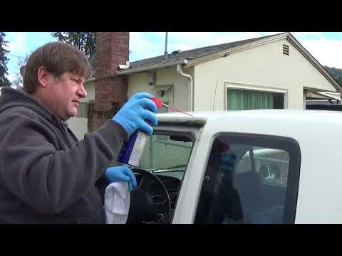Removing car moss with WD40
