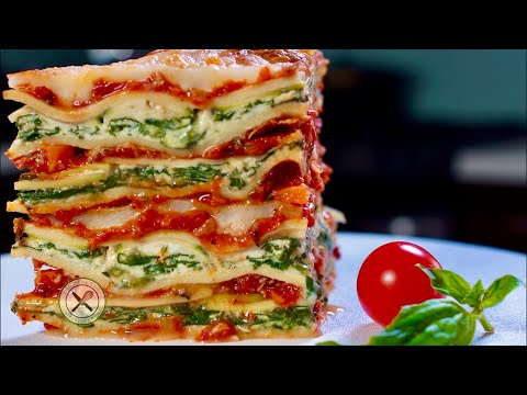 Vegetarian Lasagna Recipe – Bruno Albouze – THE REAL DEAL