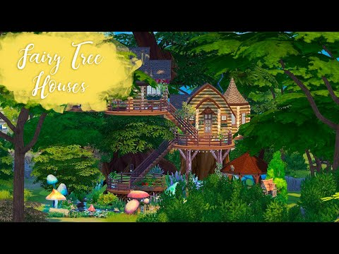 FAIRY TREE HOUSES Sims 4 || Speed Build || Simsbiosis