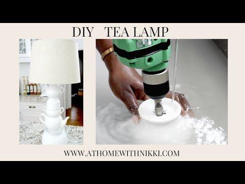 DIY   HOW TO MAKE A LAMP   Home Decor