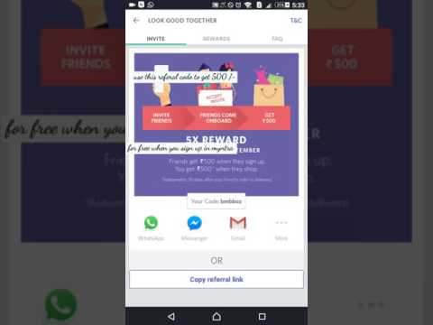 How to get 500 rupees for free in myntra