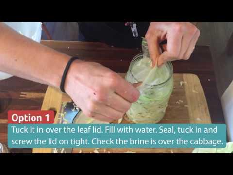 How to seal a jar of Sauerkraut