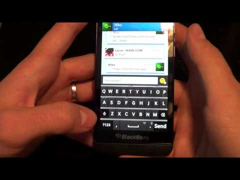 BlackBerry 10 All-Touch Keyboard with Voice to Text