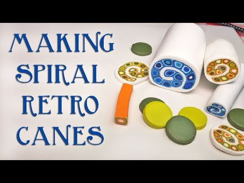 How To Make A Polymer Clay Spiral Retro Cane