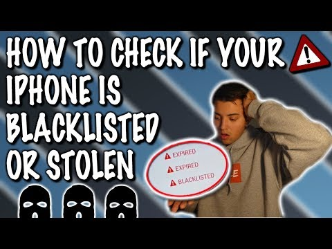 HOW TO CHECK IF IPHONE IS IMEI BLACKLISTED (LOST OR STOLEN)
