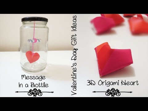 More Creative Gift Ideas for Boyfriend or Girlfriend | 3D Heart & Message in a Bottle | Sunny DIY