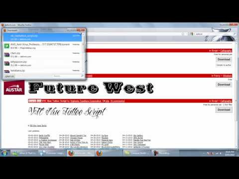 How to Download and Install Custom Fonts (Windows XP,Vista,7) - PC TUTORIAL