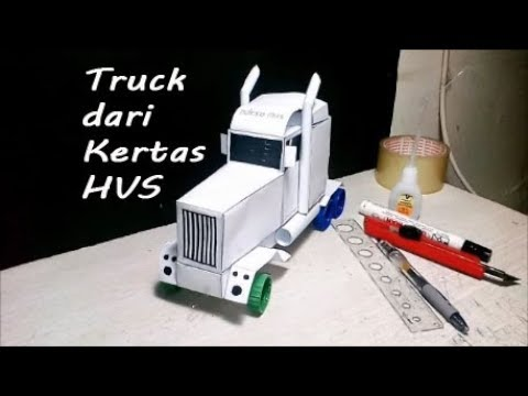 how to make truck trailer toys from paper at home