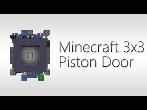 Minecraft 3x3 Piston Door (1.8) [Tutorial]