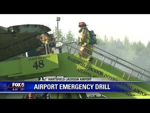 Atlanta airport emergency drill