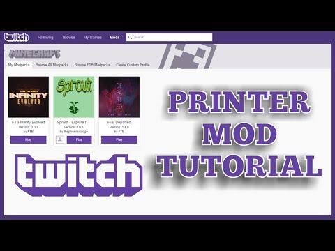 Twitch Launcher Tutorial: Schematica Printer Mod - How to Auto Build in Minecraft