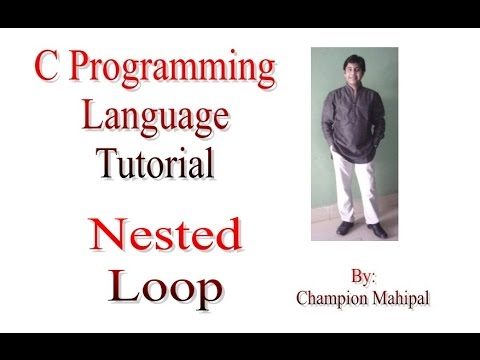 C Programming Language Tutorial 26 Nested for Loop and print ASCII value
