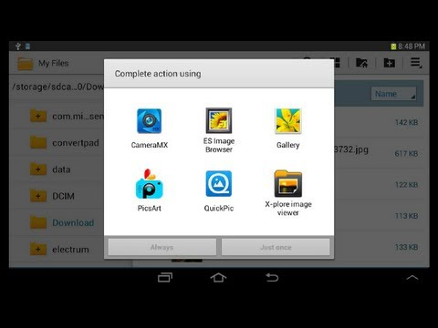 How to change default apps (Samsung Tab 2 7.0 GT-P3113) Android 4.1.1