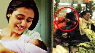 Rani Mukerji CREATES Scene At Airport While Protecting Baby Adira