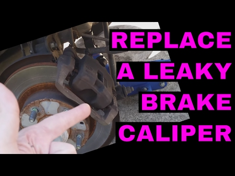 Replace a rear brake caliper - 2002 Mazda Protege