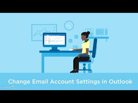 Change email account settings in Outlook