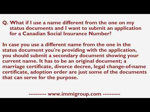 What if I use a name different from one on my status documents and I want submit for CSIN?