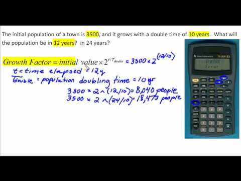 Exponential Growth:  Doubling Time and Half-life