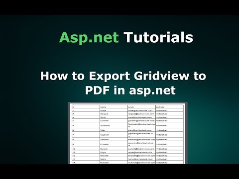 How to Export Gridview to PDF file in Asp.net using iTextsharp