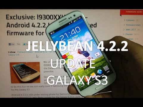 How to Install jellybean 4.2.2 Update on Galaxy S3 I9300